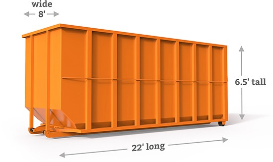 40yd roll off container in lakeville, mn